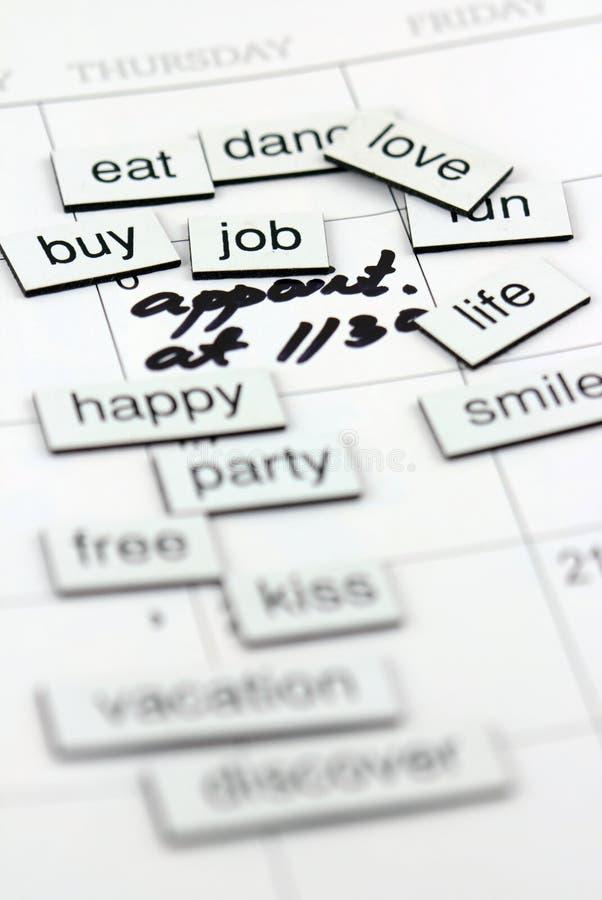 Job sulle lettere magnetiche immagine stock libera da diritti