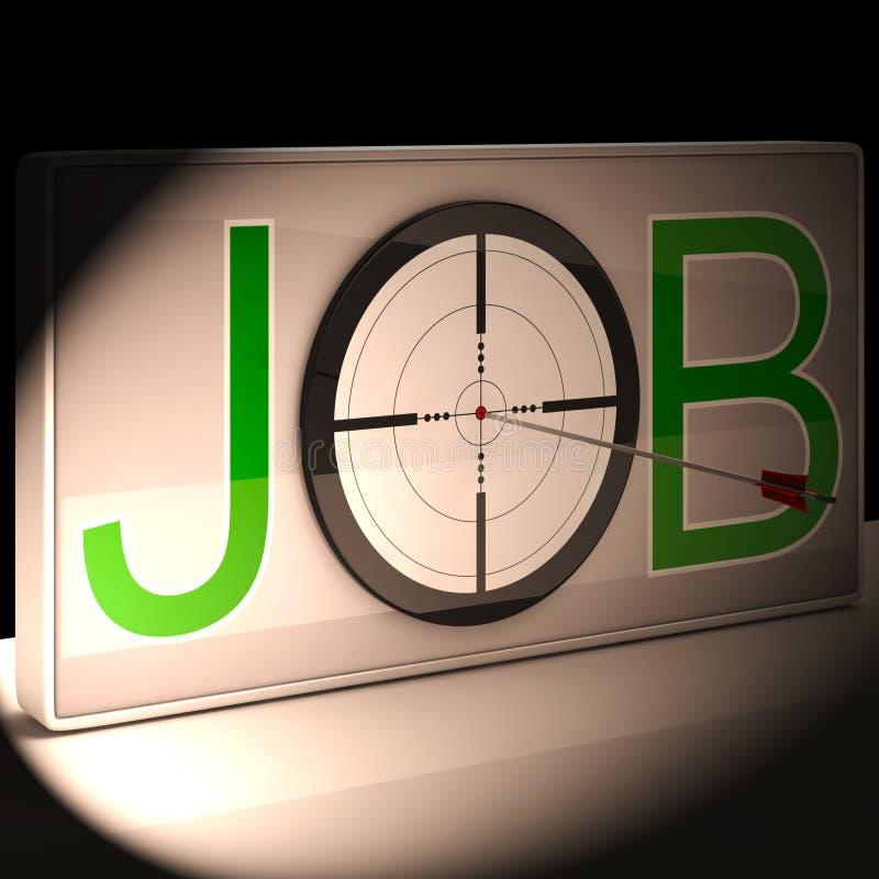 Job Target Shows Work And-Karriere-Berufung stock abbildung