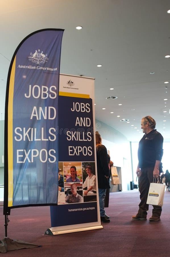 Job-u. Fähigkeits-Ausstellungen stockfotos