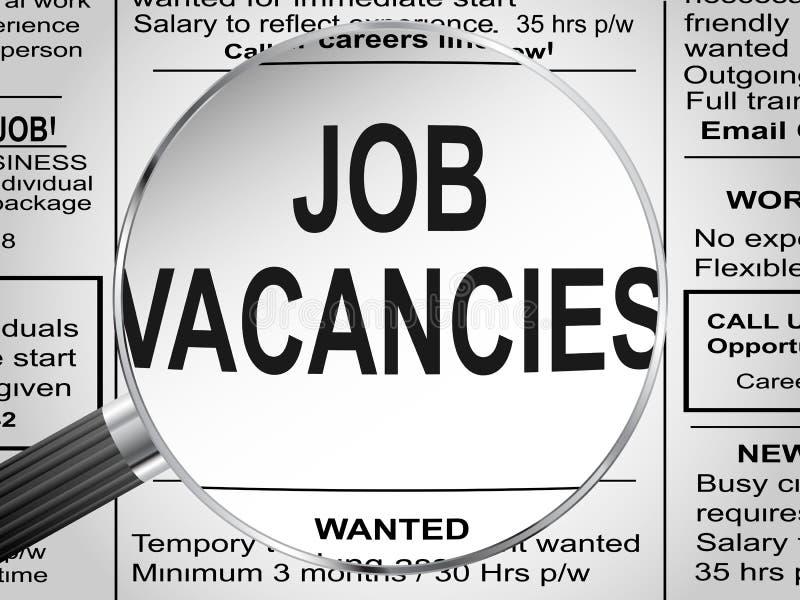 Job Vacancies ilustração stock
