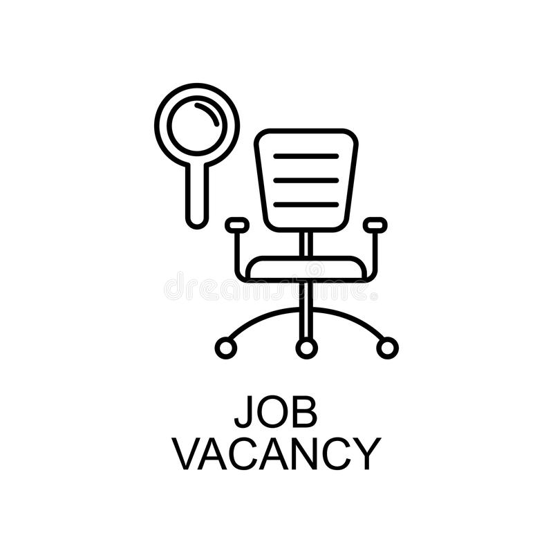 job vacancy line icon. Element of human resources icon for mobile concept and web apps. Thin line job vacancy icon can be used for stock illustration