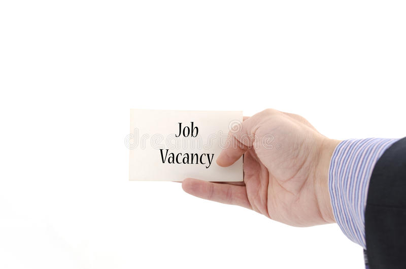 Job vacancy text concept royalty free stock images