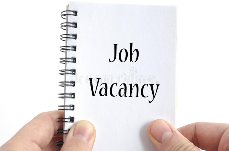 Job vacancy text concept stock images