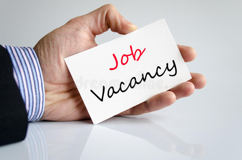 Job vacancy text concept royalty free stock photo
