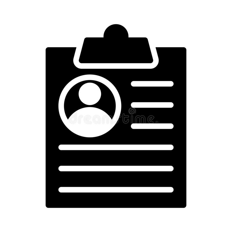 Job glyph flat vector icon stock illustration