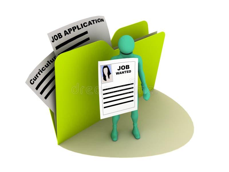Job wünschte Ikone lizenzfreie abbildung