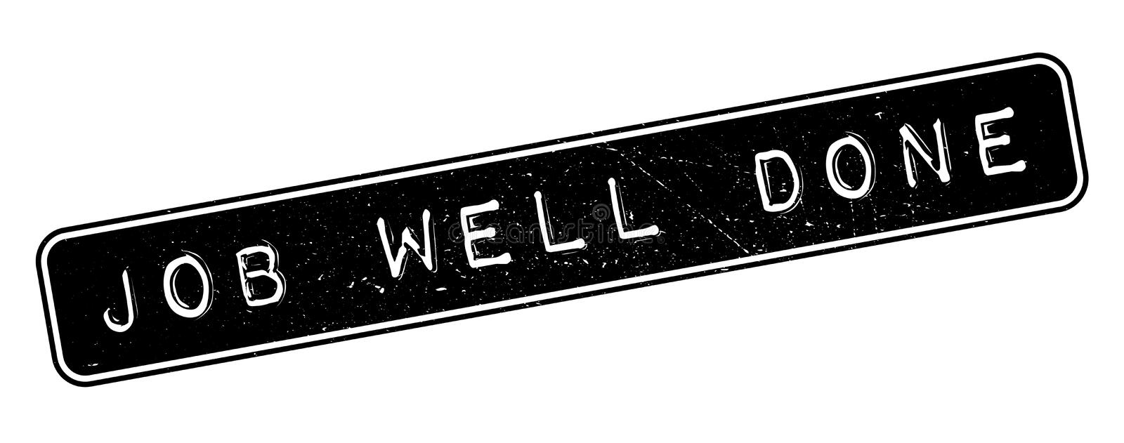 Job Well Done rubber stamp royalty free illustration