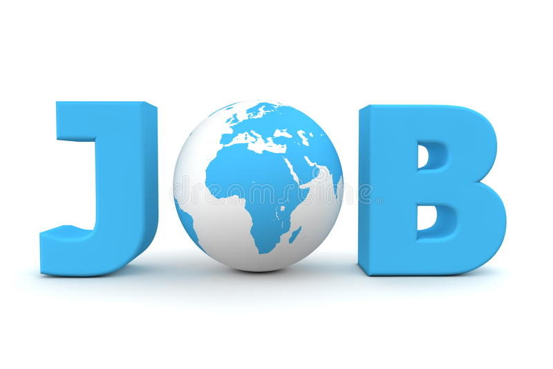 Job-Weltblau lizenzfreie abbildung