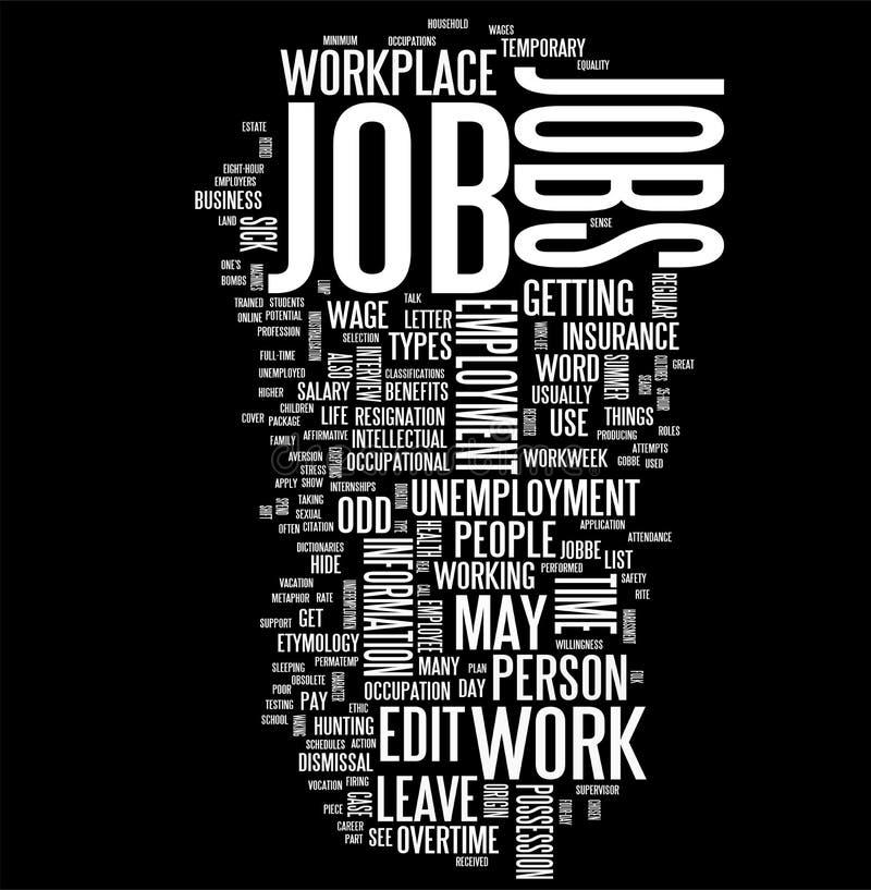 Download Job word cloud stock illustration. Image of macro, background - 10978099