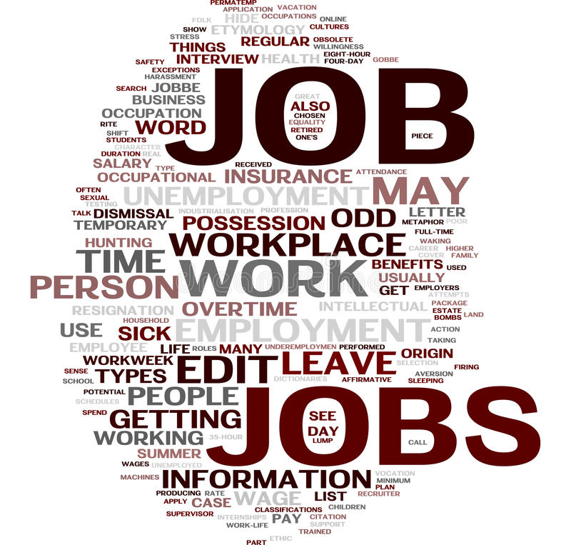 Download Job word cloud stock illustration. Illustration of interview - 10978130