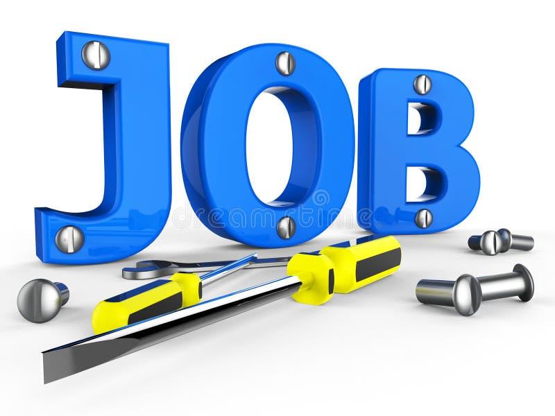 Job Word Means Hire Me y carrera stock de ilustración