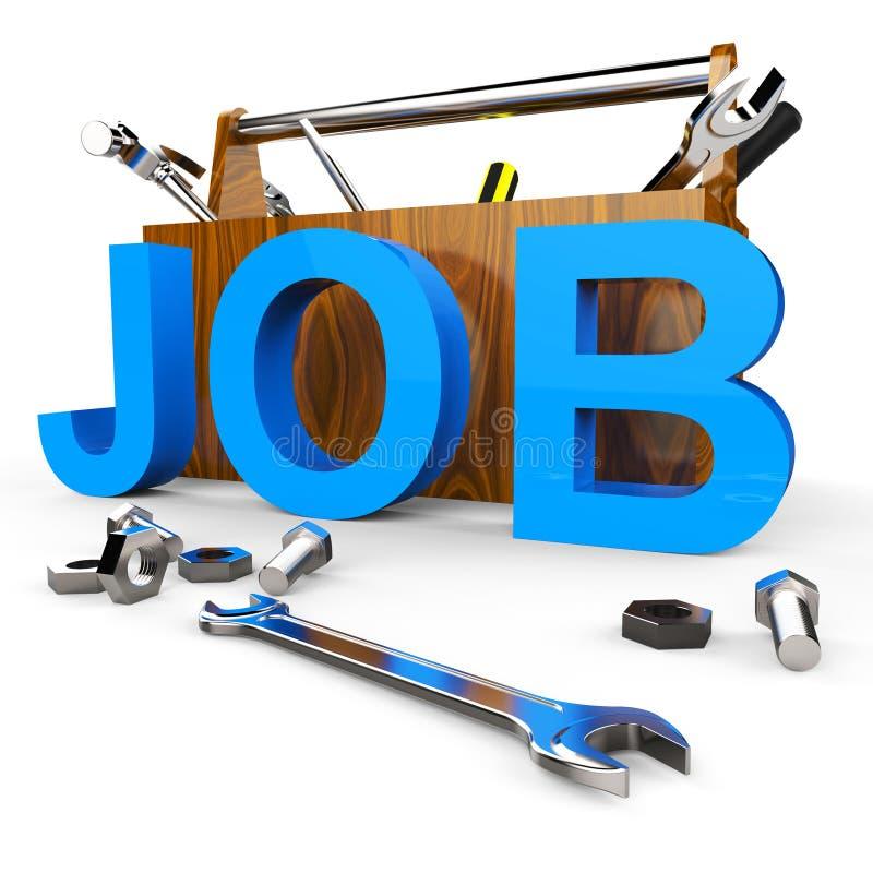 Job Word Represents Hire Me y se aplica stock de ilustración