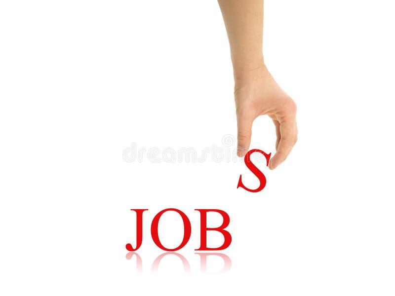 Jobauszug stockbilder