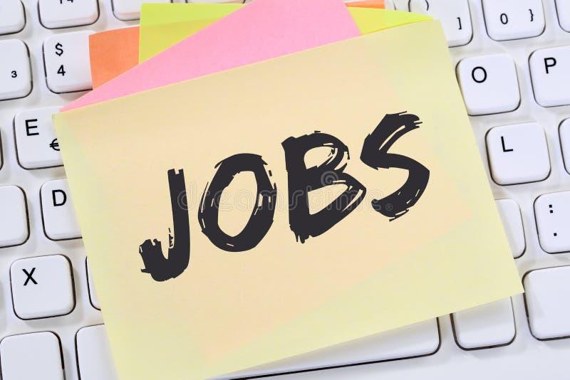 Jobb för rekryteringanställda för jobb funktionsduglig busine för kontor för papper för anmärkning arkivbild