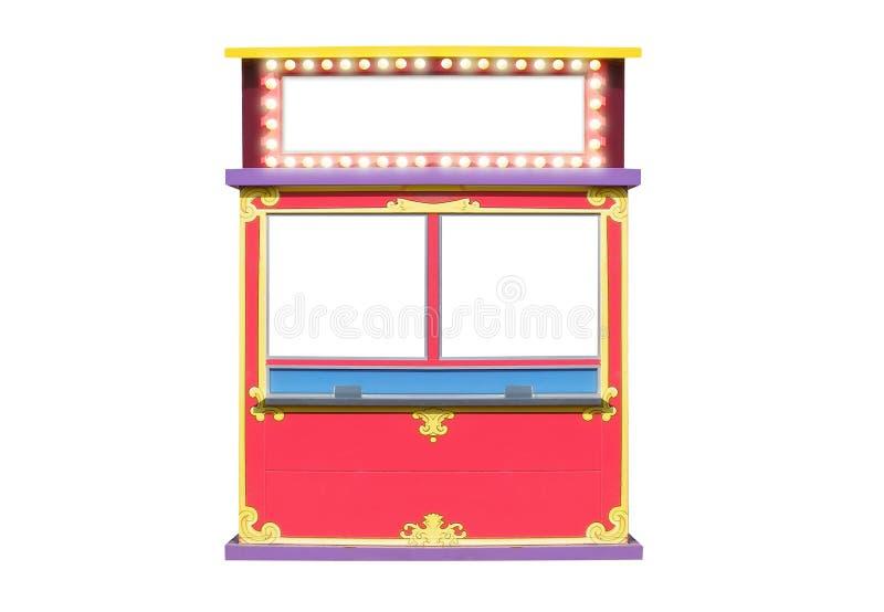 jobbanvisning för stand för båskarnevalcirkus stock illustrationer