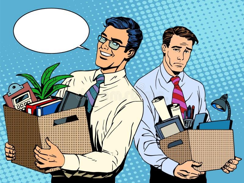 Jobbavskedande och anställning stock illustrationer