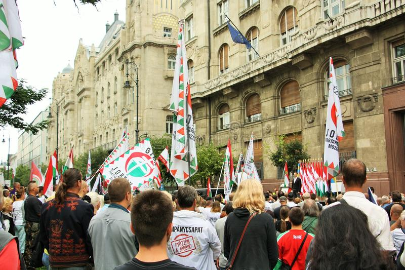 Jobbik-Äusserung in Budapest, Ungarn stockfotos
