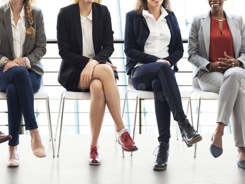 Jobbintervju för affärsfolk arkivfoto