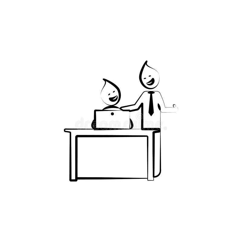 Jobbrunnenchef-Entwurfsikone des Büromannes gute Element der Bürolebenillustration Erstklassige Qualitätsgrafikdesignikone Zeiche vektor abbildung