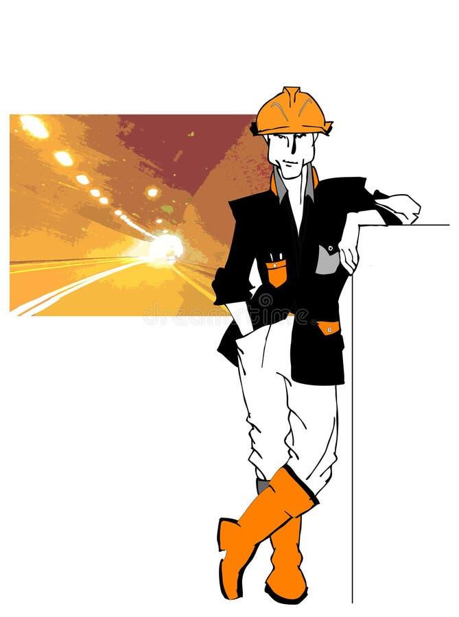 jobbseriearbetare stock illustrationer