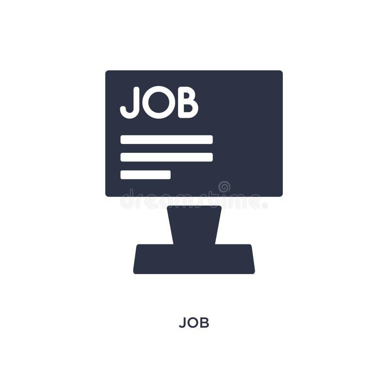 jobbsymbol på vit bakgrund Enkel beståndsdelillustration från personalresursbegrepp royaltyfri illustrationer
