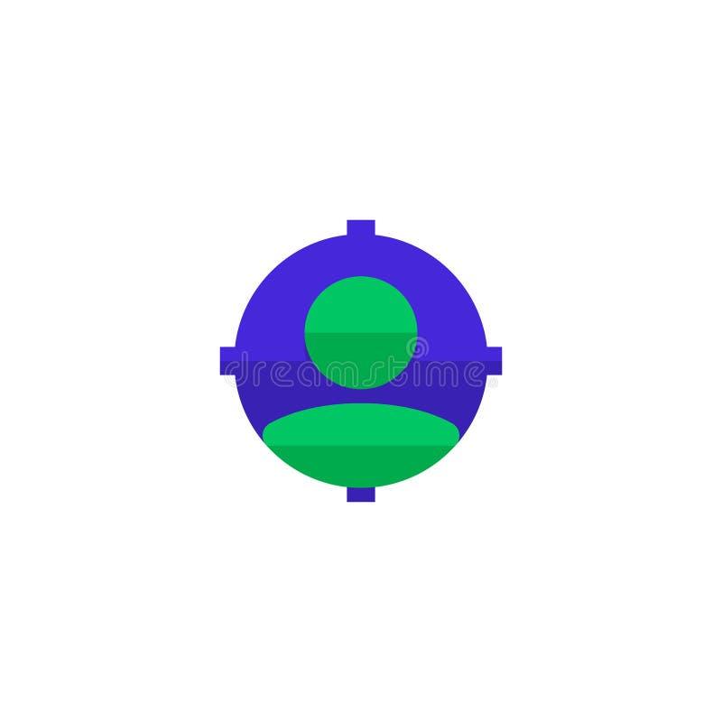 Jobbvakans som ser ny arbetarsymbolsdesign anställd med syftemålet för att hyra symbol enkel ren yrkesmässig affär vektor illustrationer