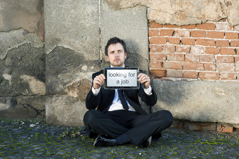 Jobless royalty free stock image