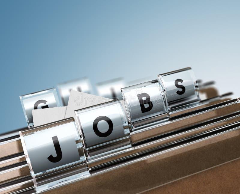 jobs illustration libre de droits