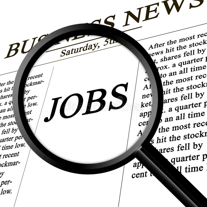 Jobs. In the news paper royalty free illustration