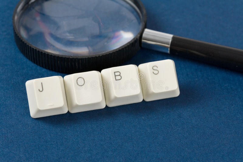 Jobs. Computer keyboard and word jobs, Online Job Searching