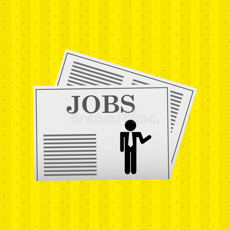 Jobs concept design. Illustration eps10 graphic royalty free illustration