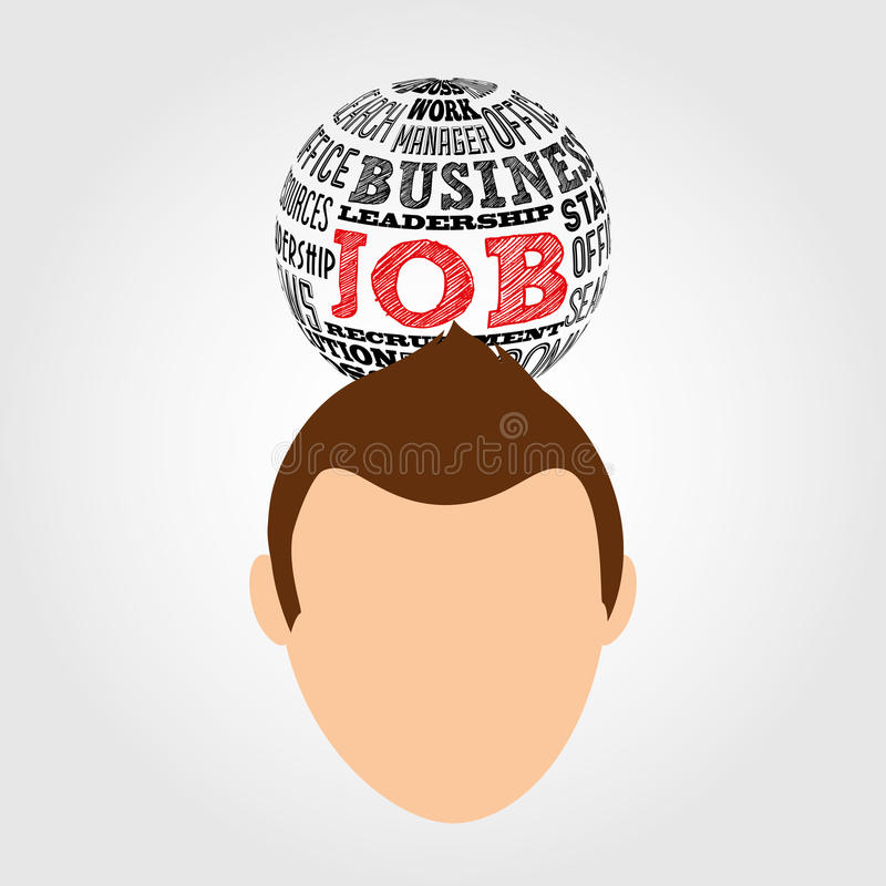 Jobs concept design. Illustration eps10 graphic vector illustration