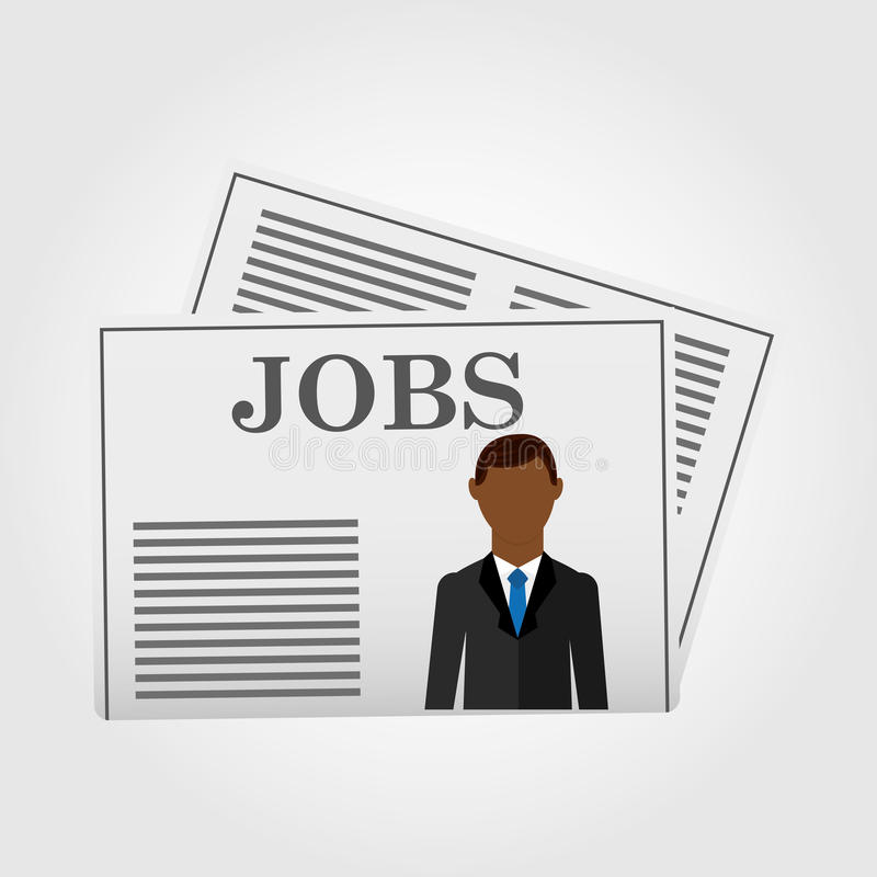 Jobs concept design. Illustration eps10 graphic stock illustration