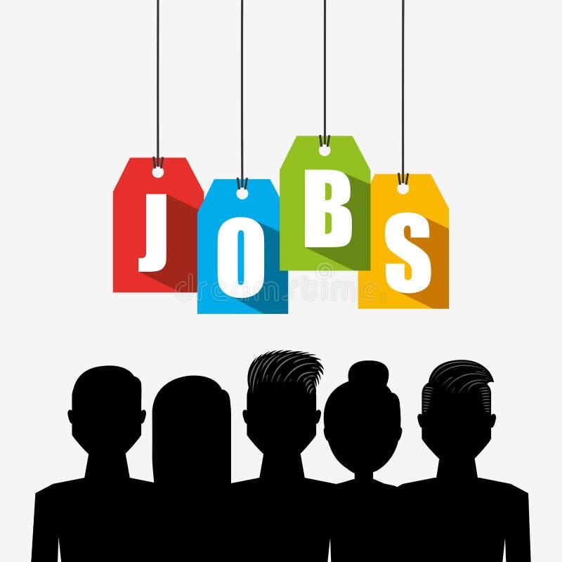 Jobs concept design royalty free illustration