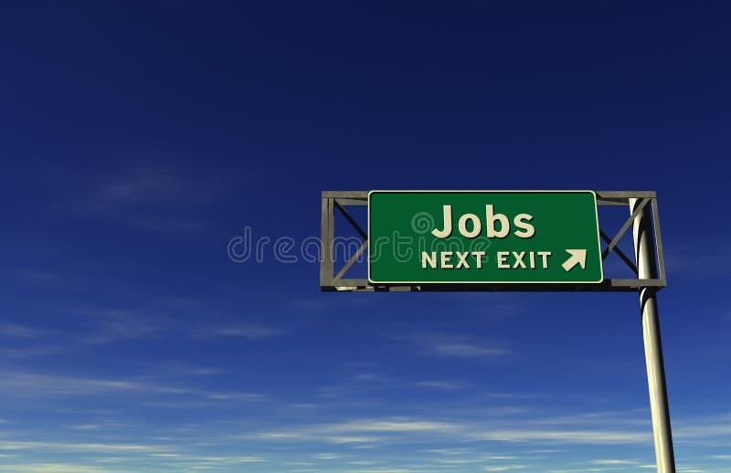 Download Jobs Freeway Exit Sign stock illustration. Illustration of retirement - 16287972