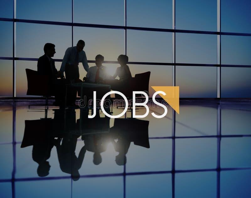 Jobs Job Career Occupation Human Resource Recruitment Concept stock photography