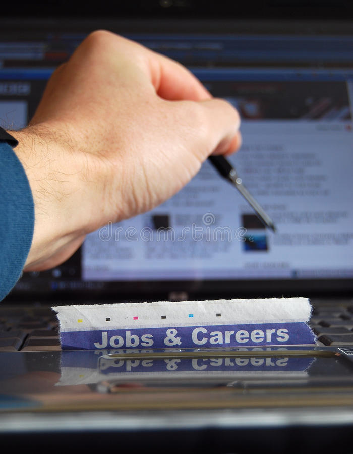 Jobs online stockbild