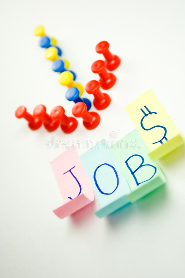 Jobs sign stock photography