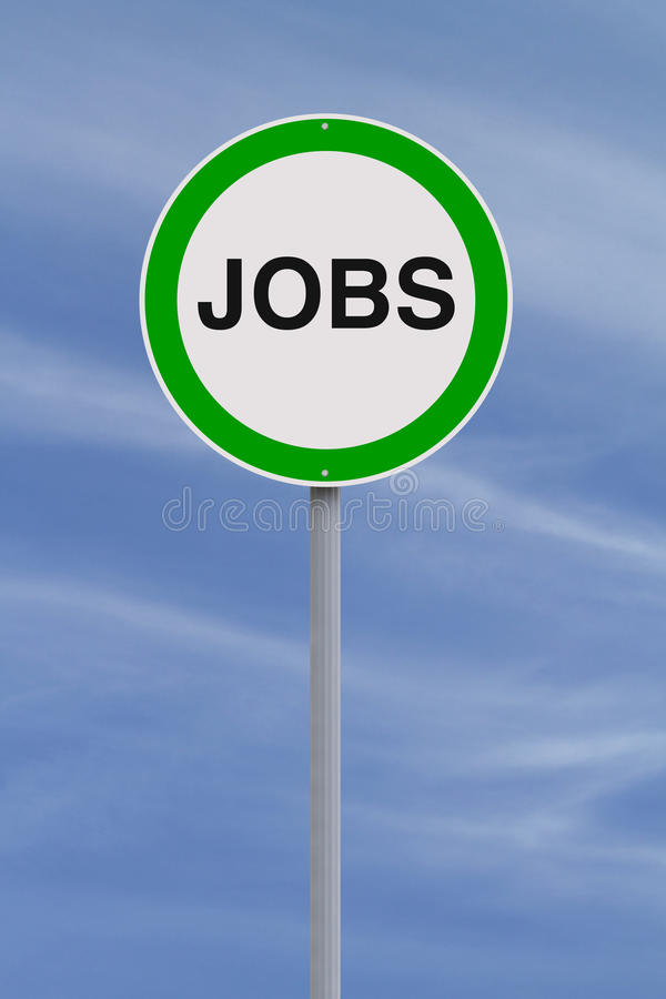 Jobs Sign stock image