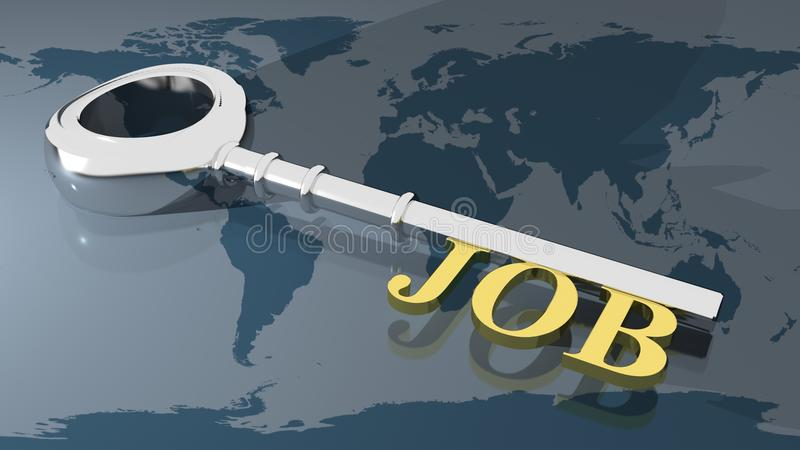 Jobschlüssel stock abbildung