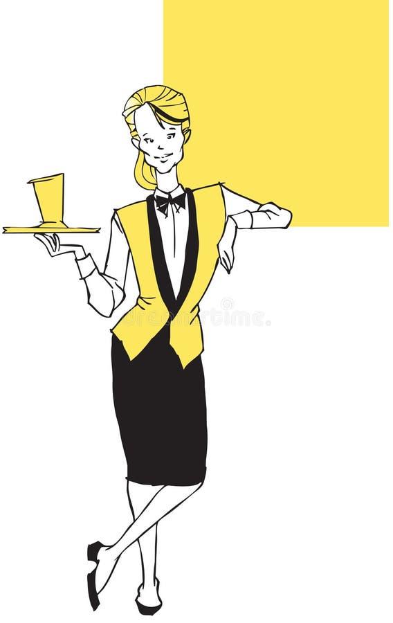Jobserie - Kellnerin stock abbildung