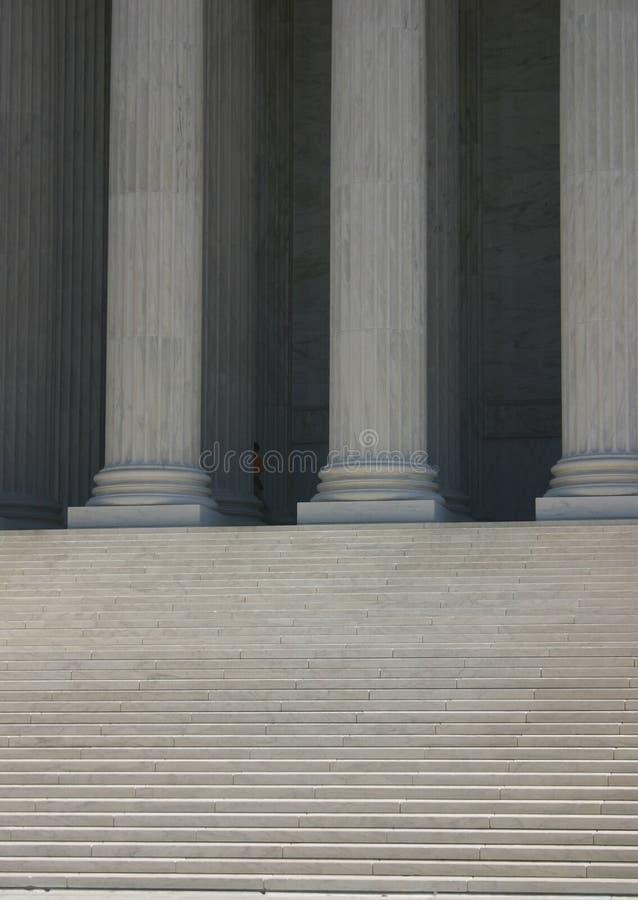 Jobstepps und Spalten (Höchstes Gericht) lizenzfreie stockbilder