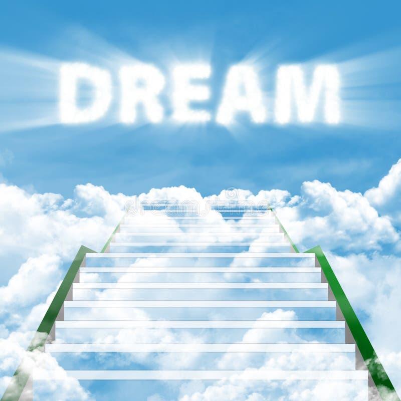Jobstepps, zum des hohen Traums zu verwirklichen lizenzfreie abbildung