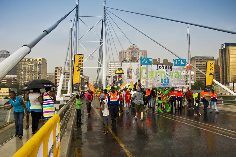 Joburg Carnival - Street Parade stock image
