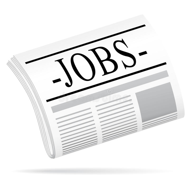 Jobzeitung. lizenzfreie abbildung