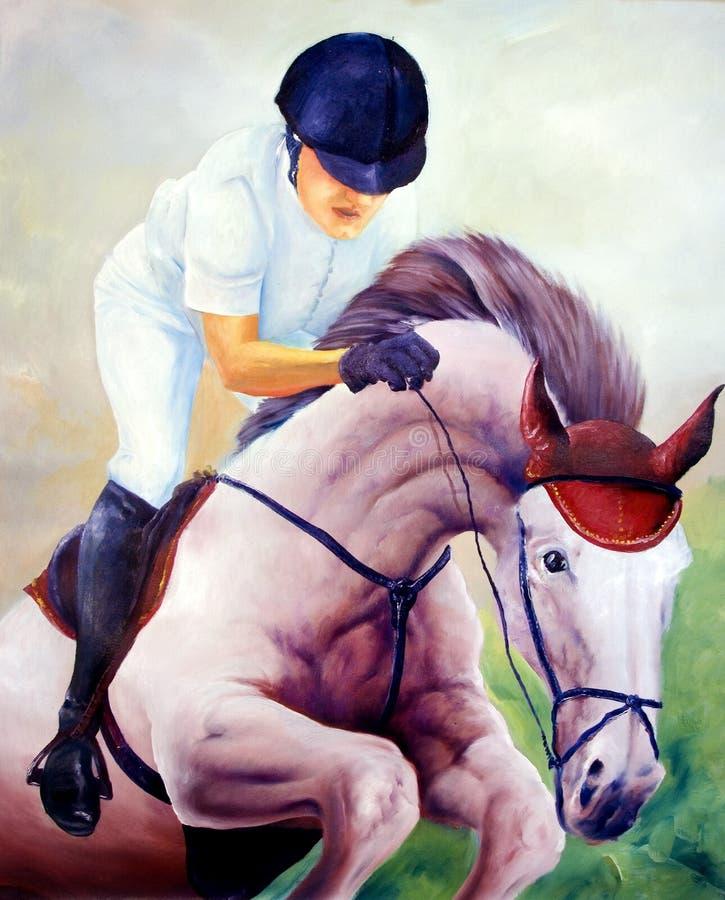 Jockey stock illustratie