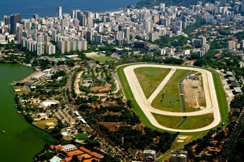 Jockey Club and Leblon in Rio de Janeiro. View of jockey club and Leblon in Rio de Janeiro stock photos