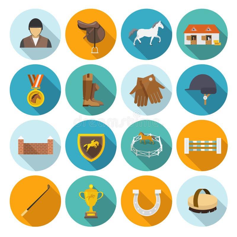 Jockey Flat Set stock illustratie