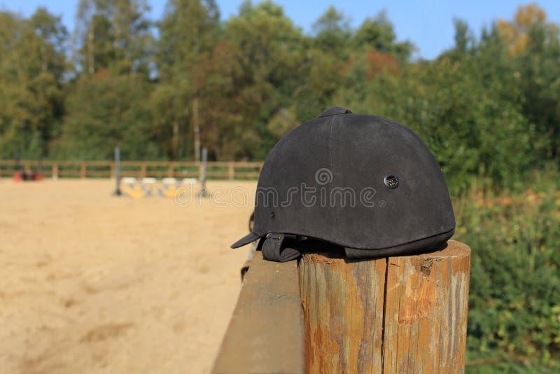 Jockey helmet royaltyfri foto