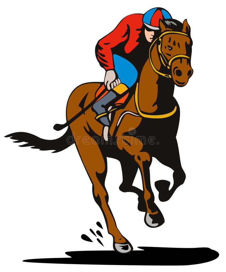 jockey and horse racing stock vector illustration of mane 4835996 rh dreamstime com standardbred race horse clip art racehorse images clip art